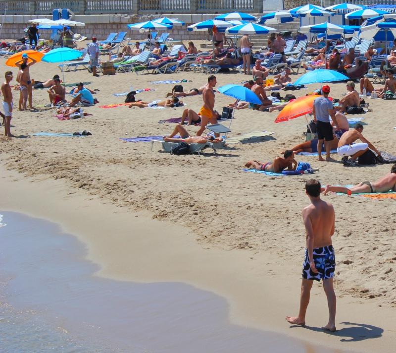 Geje na plaży